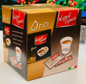 NAPOLI EXPRESS COFFEE PODS SINGLE DOSE GOLD WITH ACCESSORIES Featured Image