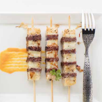 ATLANTIC COD KEBOBS WITH RED CABBAGE AND BREAD CRUMBLE Featured Image